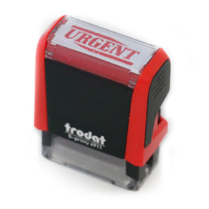 Urgent Rubber Stamp | stock stamp | Triangle Stamp