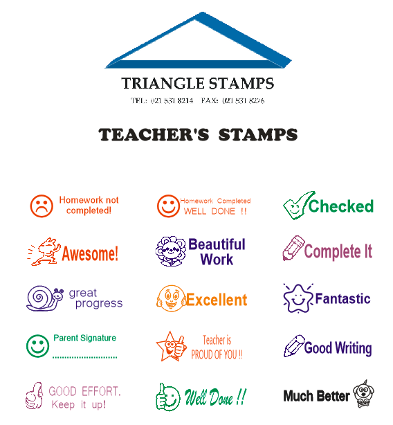 Teachers rubber stamps | Triangle Stamps